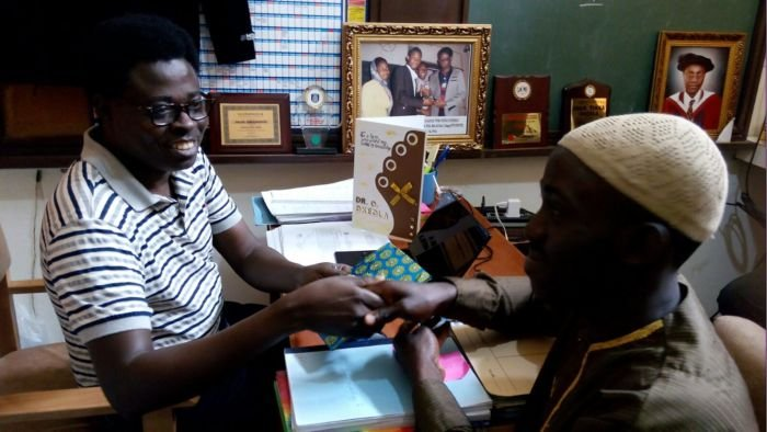 An Outgoing Student Presented Gifts To Dr Okeola